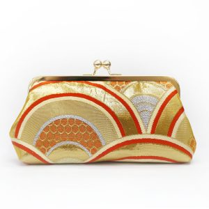 Heritage ReFashioned-Kimono Obi-Seigaiha clutch purse
